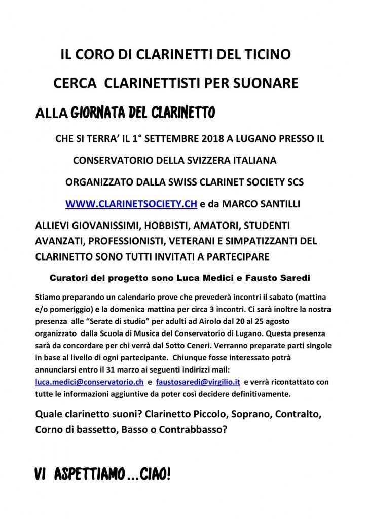 Coro di clarinetti del Ticino